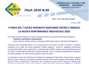 Il VIRUS DEL TAVOLO SEPARATO NASCONDE DIETRO L'ANGOLO LA NUOVA PERFORMANCE INDIVIDUALE 2020